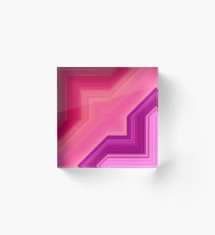 pink and purple shapes Acrylic Block