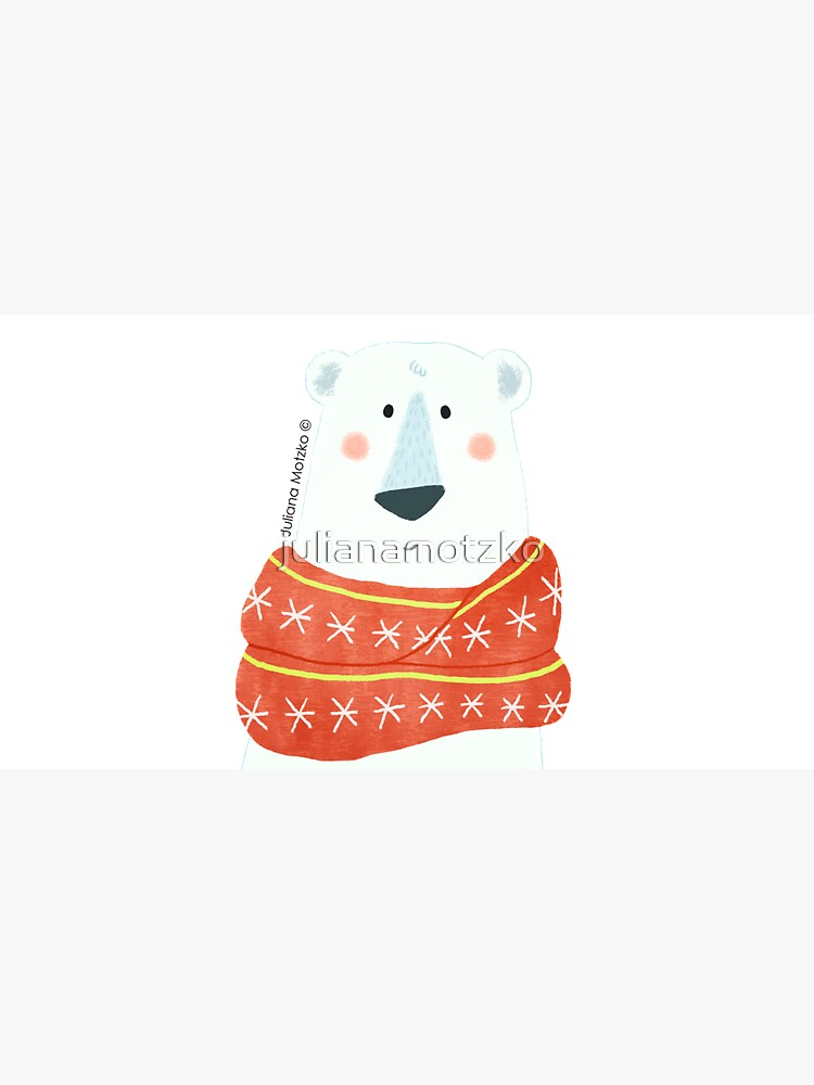 Polar Bear with scarf by julianamotzko