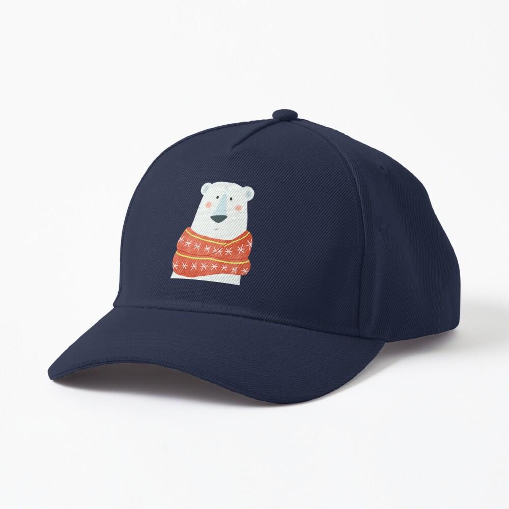 Polar Bear with scarf Cap