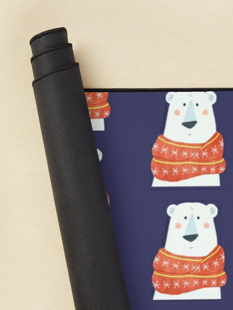 Alternate view of Polar Bear with scarf Mouse Pad