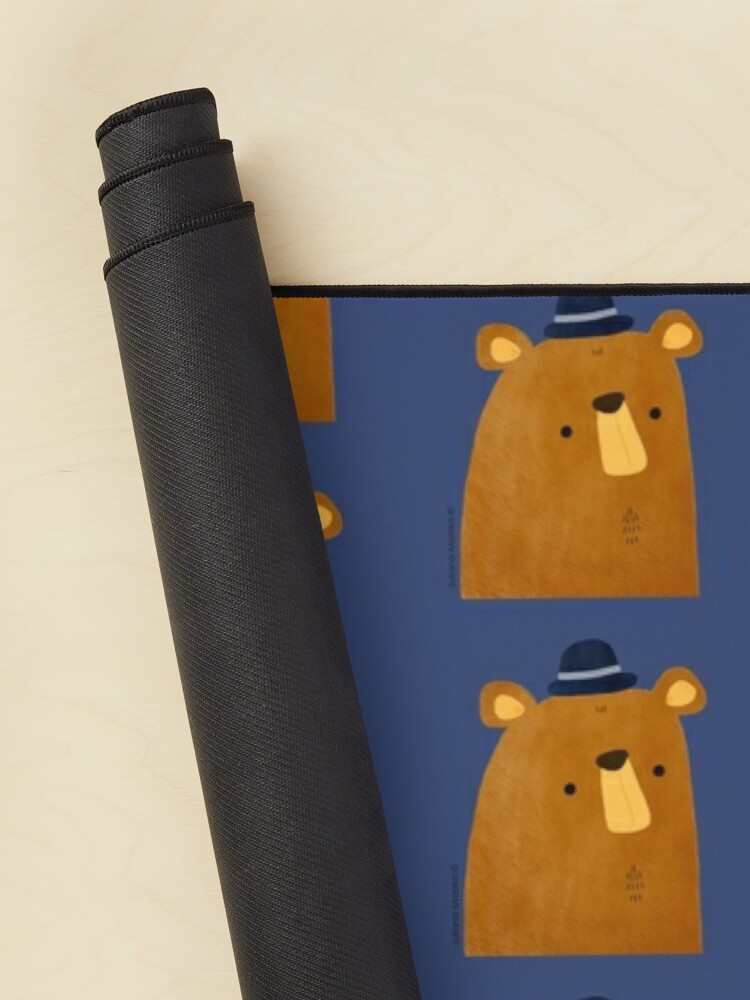 Alternate view of Bear with Hat Mouse Pad