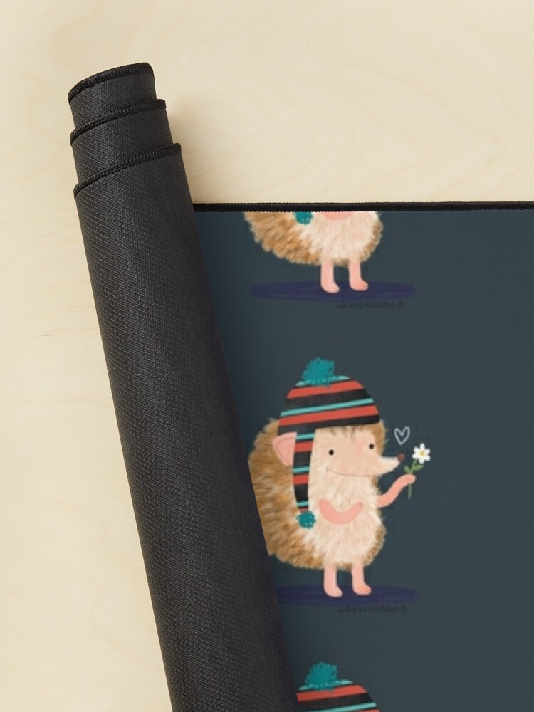 Alternate view of Hedgehog with flower Mouse Pad