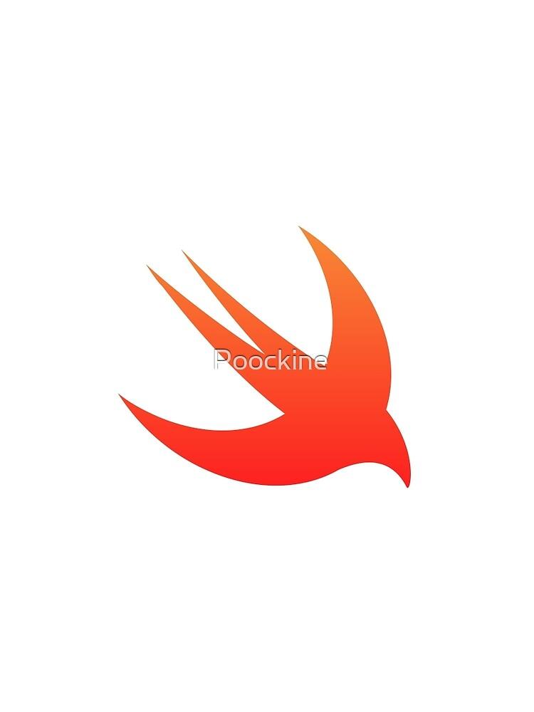 Logotipo de Apple Swift de Poockine