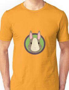 Cute Rabbit head with purple cirlcle Unisex T-Shirt