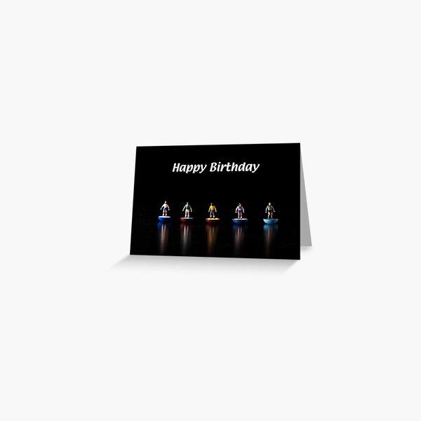 Footballers Birthday Card Greeting Card