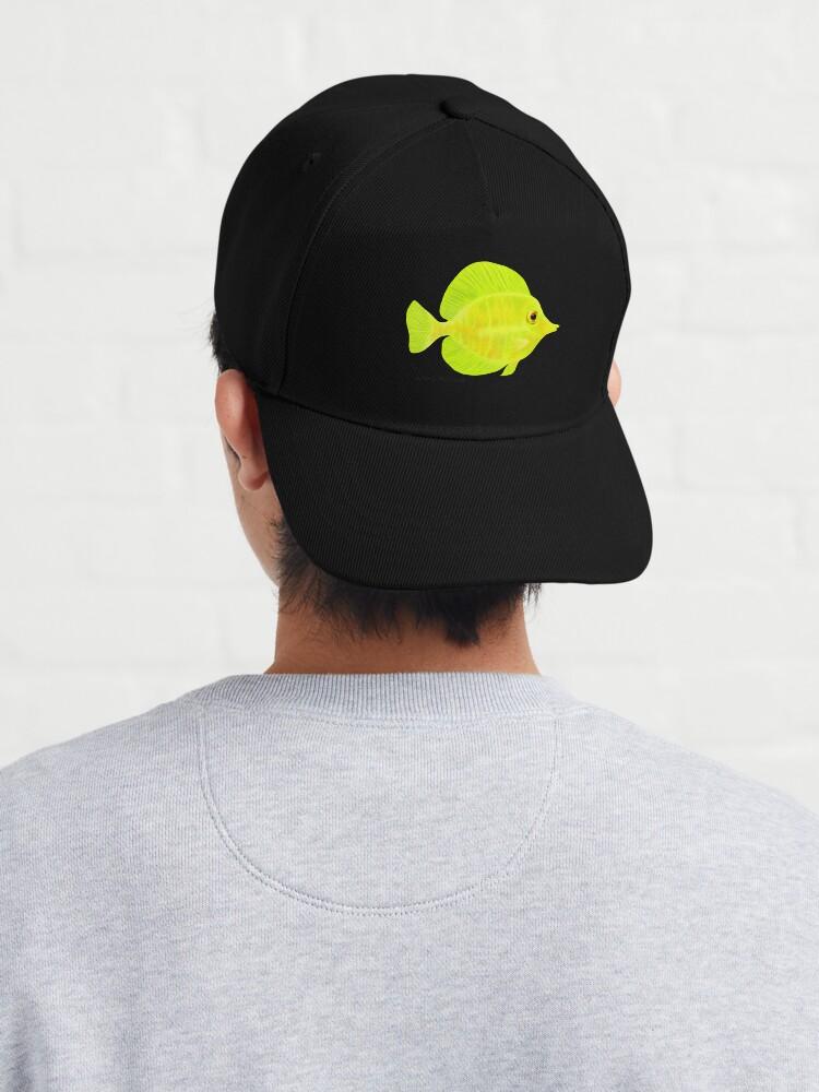 Alternate view of Yellow Tang Fish Cap