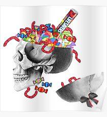 Candy Skull Jar  Poster