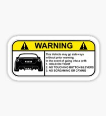 Toyota 86 Warning Drift Sticker