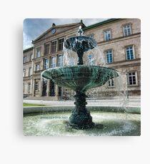 Neue Aula Fountain, Tübingen, Germany Canvas Print