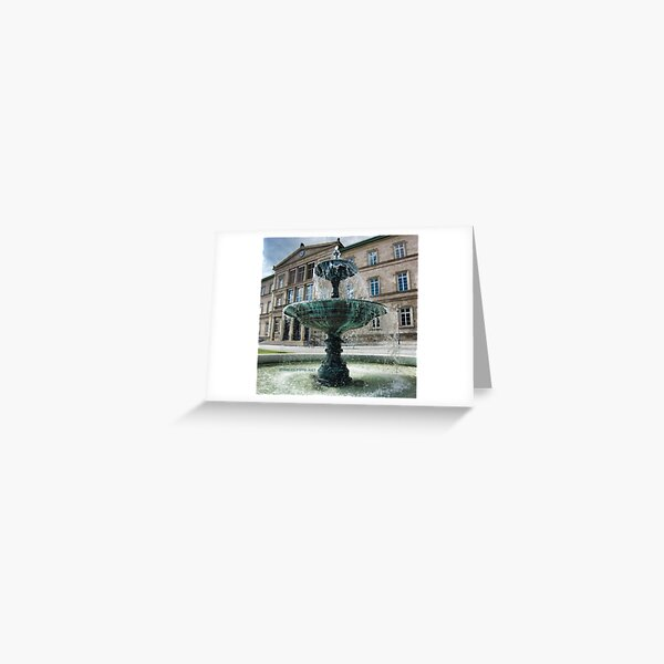 Neue Aula Fountain, Tübingen, Germany Greeting Card
