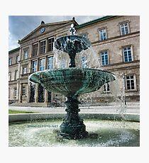 Neue Aula Fountain, Tübingen, Germany Photographic Print