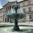 Neue Aula Fountain, Tübingen, Germany by L Lee McIntyre