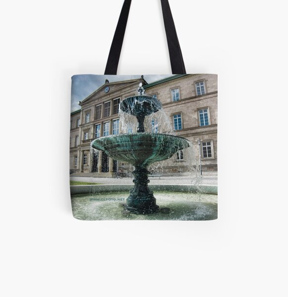 Neue Aula Fountain, Tübingen, Germany All Over Print Tote Bag