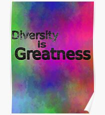 Diversity is Greatness multi-color Poster