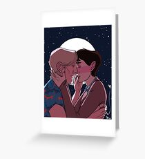 Spacedogs, Starry Starry Night Greeting Card