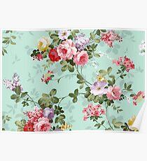Vintage flower garden texture  Poster