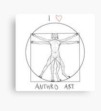 I love anthro art Canvas Print