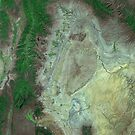 Capitol Reef Canyonlands National Parks Utah Satellite Image by Jim Plaxco