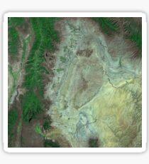 Capitol Reef Canyonlands National Parks Utah Satellite Image Sticker