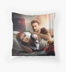 Cuddles and Magnets  Throw Pillow