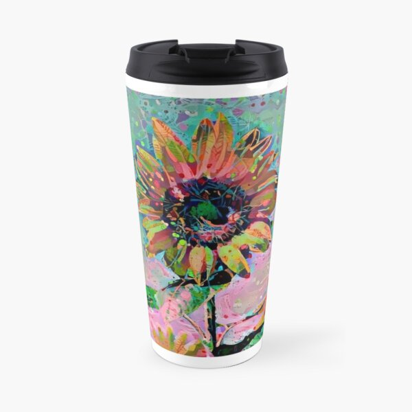 Sunflower Abstract 1 Travel Mug