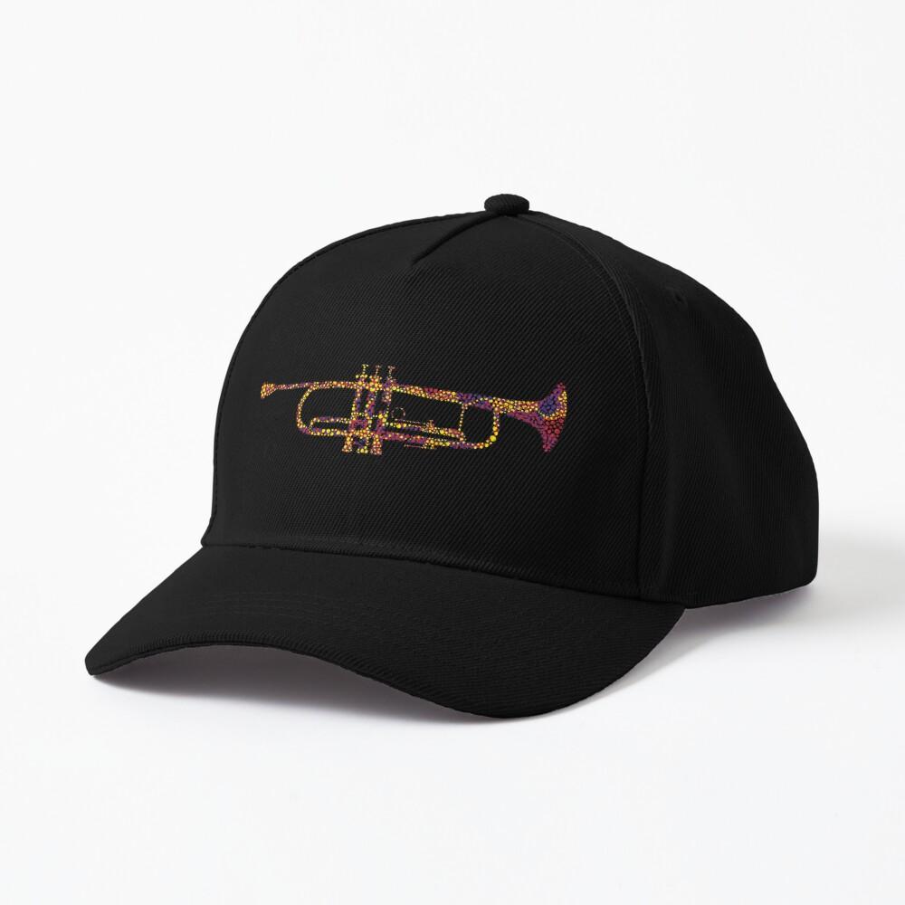 Chromatic Harmony Abstract Trumpet Art Cap