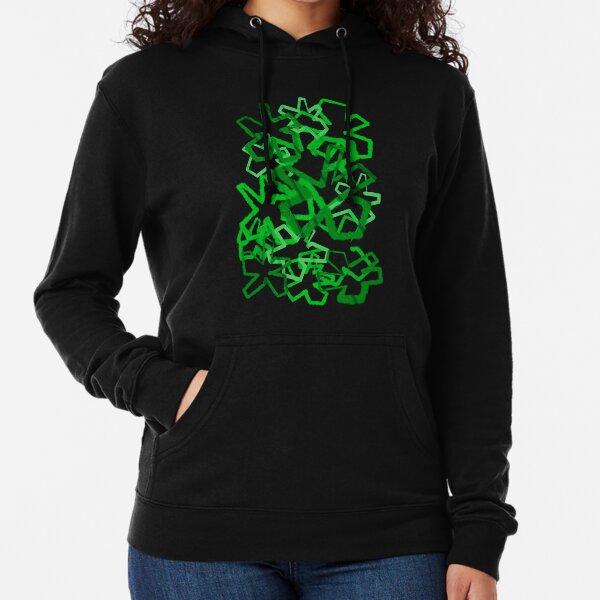 Funky Green Graffiti Flowers Lightweight Hoodie