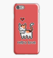 8 bit retro kitty iPhone Case/Skin