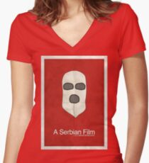 A Serbian Film - Minimalist Women's Fitted V-Neck T-Shirt