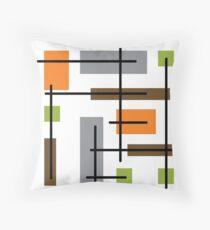 Cubicle Atomic Era Art Throw Pillow