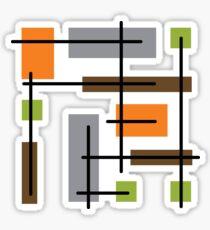 Cubicle Atomic Era Art Sticker