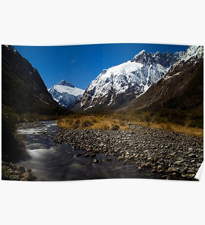 Upper Hollyford Valley, Fiordland National Park, at night Poster