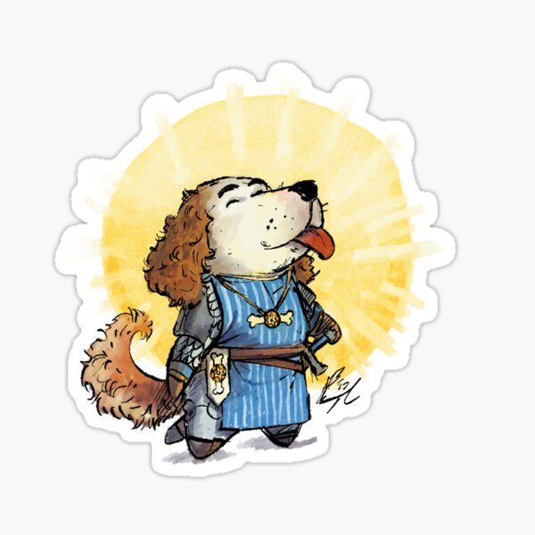 Cute RPG Cleric / Paladin Sticker