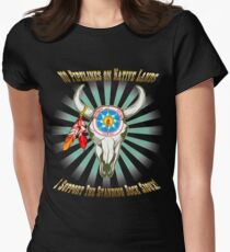 Buffalo Steal Ya Face Standing Rock Sioux Women's Fitted T-Shirt