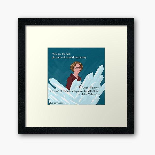 #SciComm100: Elaine Whittaker Framed Art Print