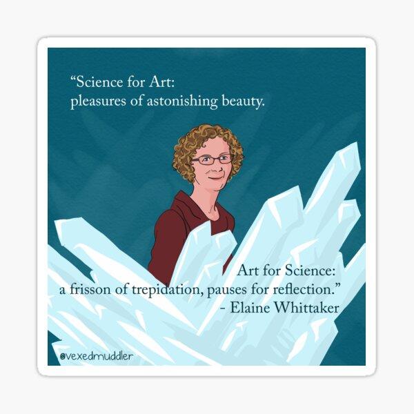 #SciComm100: Elaine Whittaker Sticker