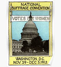 1913 Votes For Women Poster