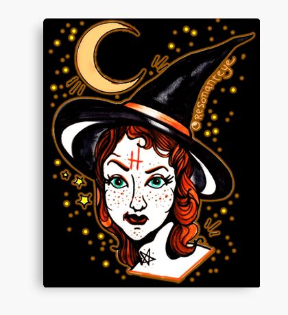 skeptical witch Canvas Print