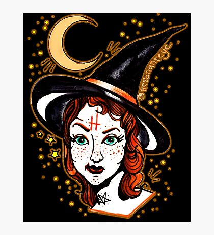 skeptical witch Photographic Print