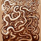 Twisted Vines of Brown by Kevin Middleton