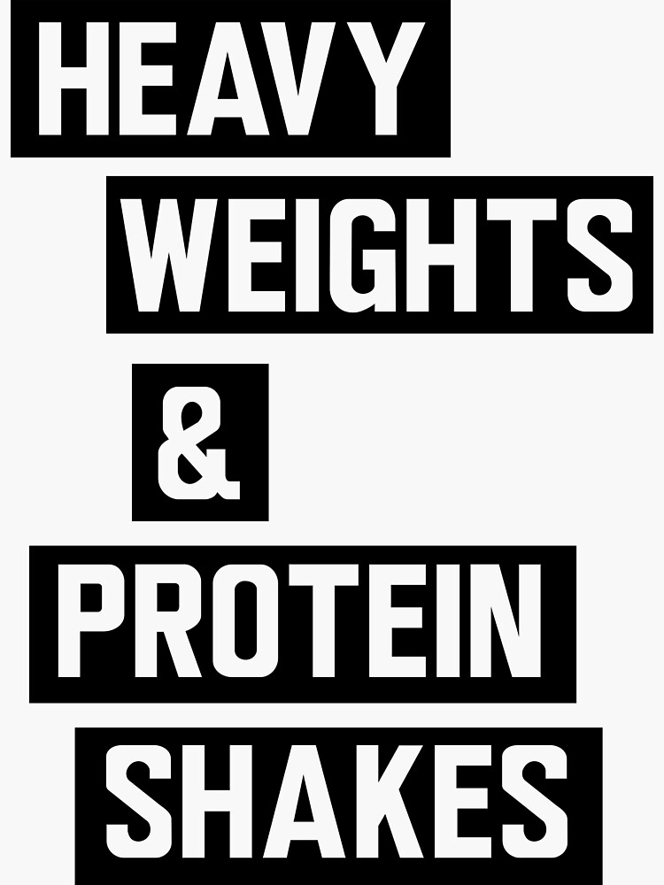 Heavy weights and protein shakes by workout