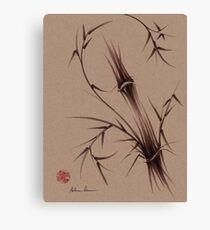 """As One""  Original brush pen sumi-e bamboo drawing/painting Canvas Print"