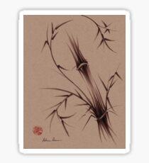 """As One""  Original brush pen sumi-e bamboo drawing/painting Sticker"