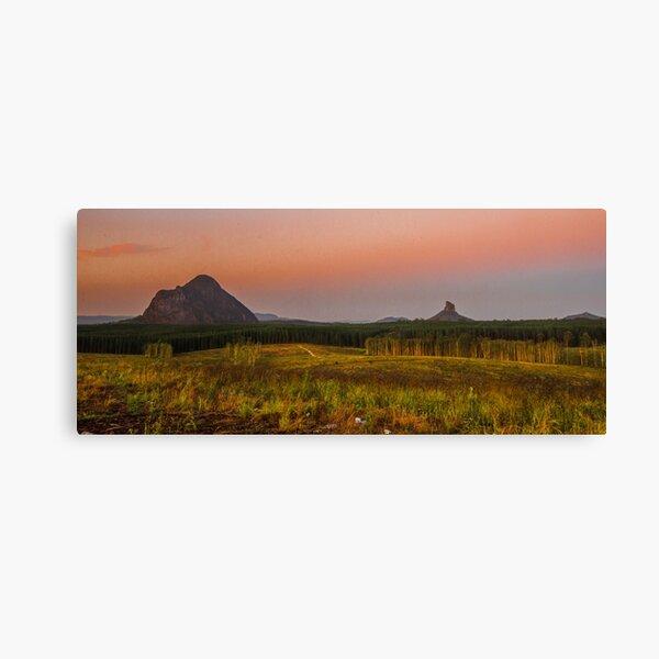 glasshouse mountains Canvas Print