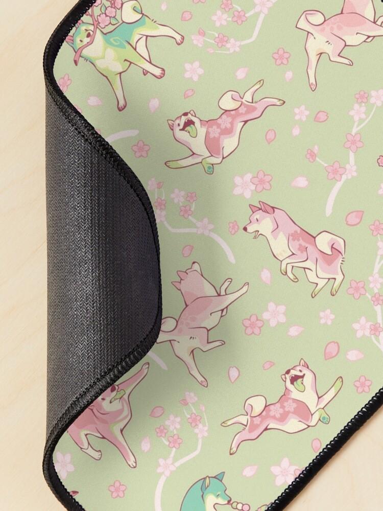 Alternate view of Shibakura & Matchinu in matcha green Mouse Pad