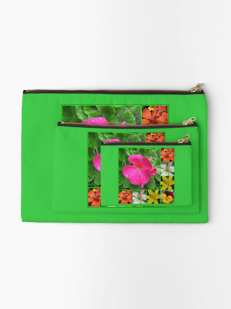 Alternative Ansicht von Raindrops On Petals Collage Täschchen