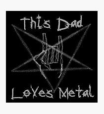 Heavy Metal Dad Photographic Print