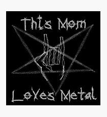 Heavy Metal Mom Photographic Print