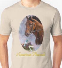 American Pharoah, Triple Crown Winner with Name Plate Unisex T-Shirt