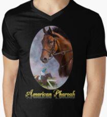 American Pharoah, Triple Crown Winner with Name Plate Men's V-Neck T-Shirt